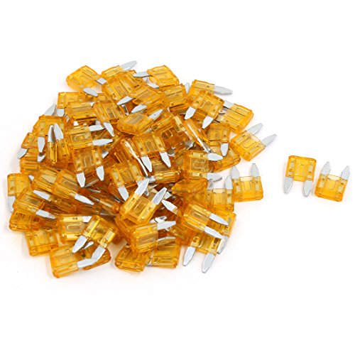 uxcell 99 Pcs Orange Car Auto Trucks SUV Replacement Fuses Mini Blade Fuse -