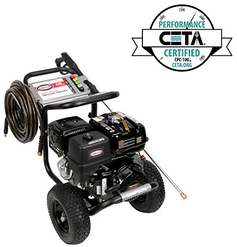 SIMPSON Cleaning PS4240H 4200 PSI at 4 GPM Gas Pressure Washer Powered by HONDA with AAA Triplex...