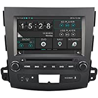 Rupse For 2006 2007 2008 2009 2010 2011 Mitsubishi Outlander 8 Inch Car DVD GPS Player with Bluetooth Phone book and Music (OEM Factory Style,Free Maps)