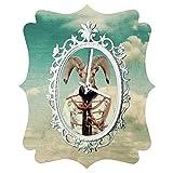 Deny Designs  Natt, Sky, Quatrefoil Clock, Medium