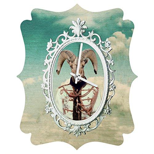 Deny Designs  Natt, Sky, Quatrefoil Clock, Medium by Deny Designs