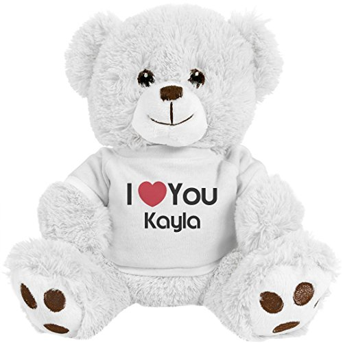 Wholesale FUNNYSHIRTS.ORG I Heart You Kayla Love: 8 Inch Teddy Bear Stuffed Animal supplier
