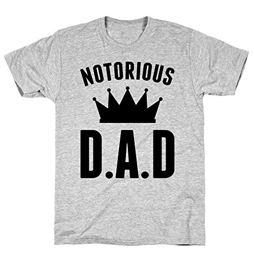 LookHUMAN Notorious DAD 2X Athletic Gray Men's Cotton