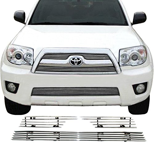 ed Aluminum 4mm Horizontal Overlay Billet Grille Bolt Over for select 06-09 Toyota 4Runner Models (2PCS)(31-0128) (Horizontal Billet Grille)