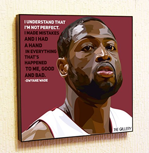 Dwyane Wade NBA Backetball Motivational Quotes Wall Decals Pop Art Gifts Portrait Framed Famous Paintings on Acrylic Canvas Poster Prints Artwork (10x10