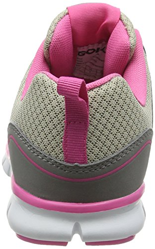 Pink Grey de 2 Gris Gola Termas para Mujer Running Zapatillas qZwgz