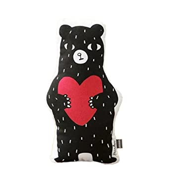 nunubee red love black bear sofa cartoon cushion christmas decor pillows throw pillows rest cushions for - Black Bear Christmas Decor