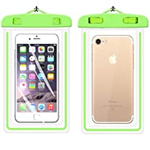 """Universal Waterproof Case,iBarbe Cellphone Dry Bag Pouch Outdoor for iPhone 7 6s 6 Plus SE 5s 5c 5, Galaxy s8 s7 s6 edge, Note 5 4, LG G6 G5,HTC 10,Sony Nokia, diagonal Devices up to 5.7""""(green)"""