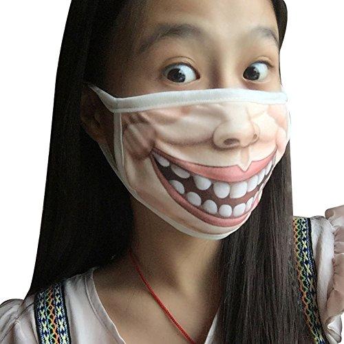 Surker Creative Keep Warm Dust Masks (Funny Face Masks)
