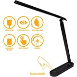 AULTRA LED Desk LAMP Light - Touch Control Desk Lamp with Multiple Brightness Level - Lights for Bedroom, The Office…