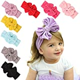 TAORE Big Bowknot Baby Girls Cotton Headband Children Kids Head Wraps ...