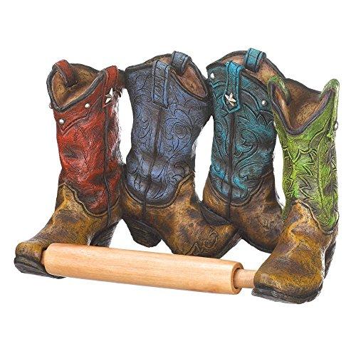 (Accent Plus Toilet Paper Holders, Unique Wall Mount Cowboy Boots Rustic Toilet Paper Holder)