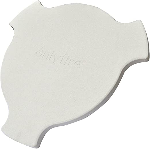 Onlyfire Pizza Stone Heat Deflector for Large Big Green Egg and Char-Griller AKORN Kamado, 17 1/2-inch