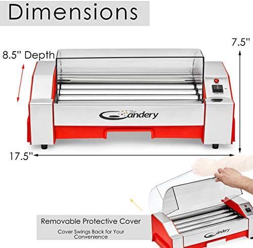 Amazon Com The Candery Hot Dog Roller Máquina De Cocción De Salchicha 6 Hot Dog Capacity Máquina De Perro Caliente Doméstico Para Niños Y Adultos Kitchen Dining