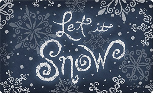 Toland Home Garden Let It Snow 18 x 30 Inch Decorative Floor Mat Winter Snowflake Christmas Doormat - 800095