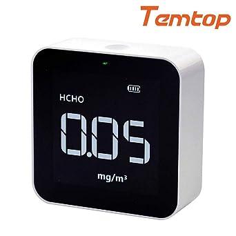 TVOC Temtop M10i Monitor de Calidad del Aire Interior WIFI AQI HCHO Detector Prueba Precisa de PM2.5 Medidor de Calidad del Aire port/átil Control de Calidad de Ambiente de su Hogar