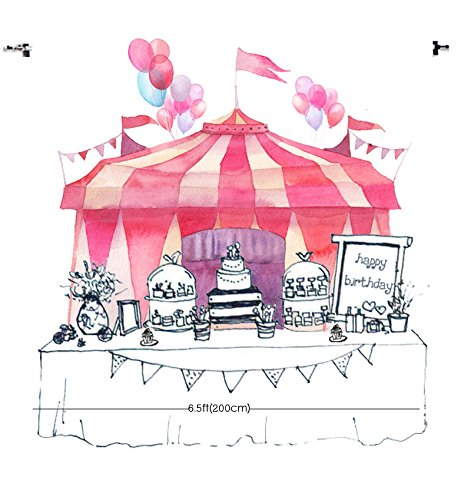 HUAYI 7x5ft photography backdrop background Circus pink Tents Baby shower Playground carnival Carousel kids birthday party banner photo studio booth photocall Xt-5678 -