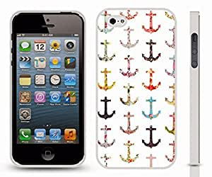 iStar Cases? iPhone 5/5S Case with Multiple Miniature Anchor Mix Pattern Design , Snap-on Cover, Hard Carrying Case (White)