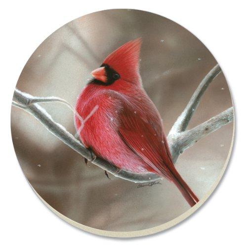 - CounterArt Decorative Absorbent Coasters, Winter Cardinal, Set of 4