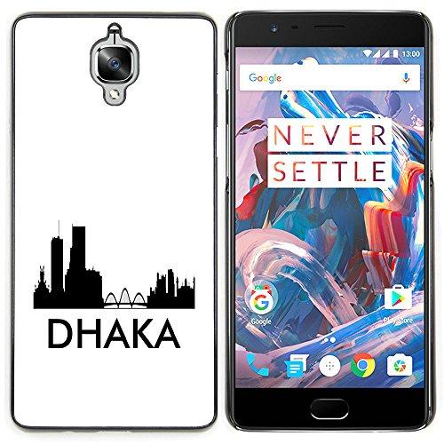 STPlus Dhaka, Bangladesh City Skyline Silhouette Postcard Hard Cover Case for OnePlus 3