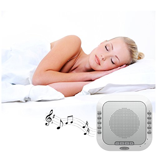 three sheep White Noise Machine Sound Machine, Music Player with Night Light, Preset 5 Soothing Sounds, Timer, and Rechargable Battery (sliver) by three sheep (Image #6)