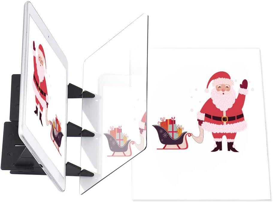 Aibecy Tablero de rastreo óptico portátil Panel de Almohadilla de Copia Artesanía Arte de Pintura de Anime Dibujo fácil Dibujo Herramienta de Molde basado en el Juguete de Regalo