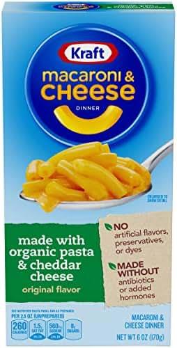 Mac & Cheese: Kraft Organic Pasta