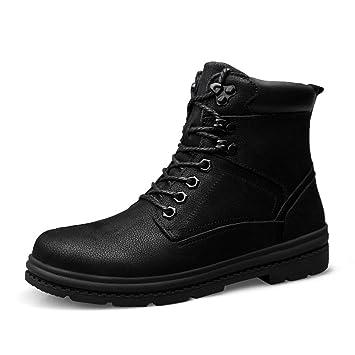 Shufang-shoes Botines Cortos de Trabajo en el Tobillo para Hombre, de Estilo clásico