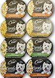 Cesar Simply Crafted Dog Food Variety Bundle - 4 Flavors, 2 of Each Flavor. 8 Total 1.3 oz Tubs