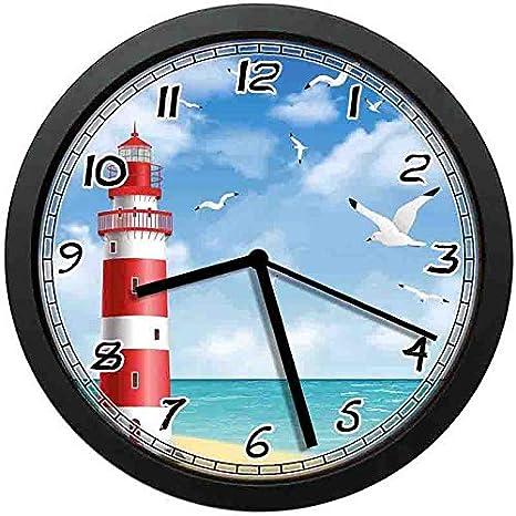 Amazon.com: BCWAYGOD - Reloj de pared con diseño de faro ...