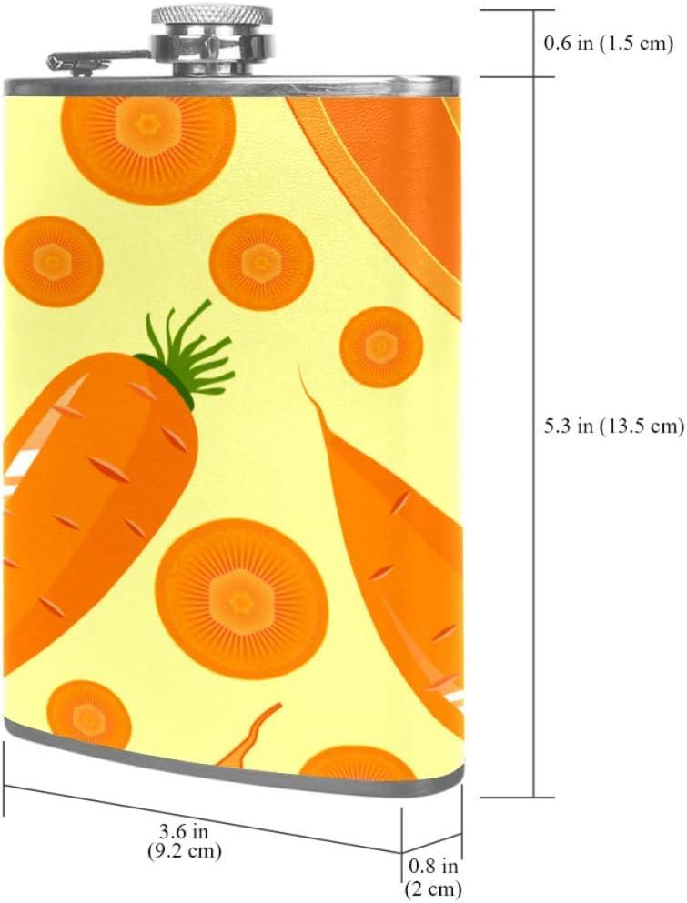 Zanahoria, caricatura Frasco de la cadera 8 oz con un ...