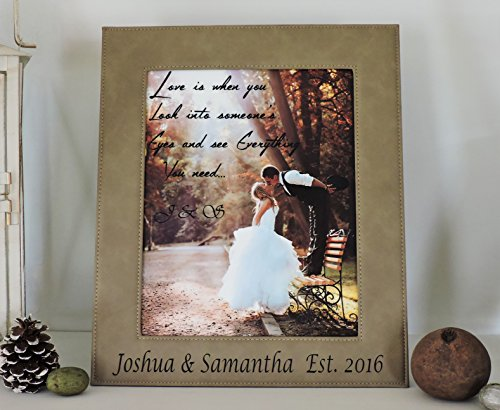 Leather Wedding or Anniversary Gift Photo Frame (Diploma Cover 8 X 10)