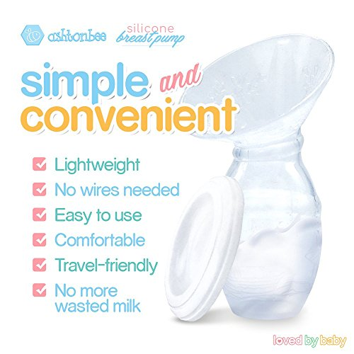 Silicone-Breast-Pump-for-Breastfeeding-with-Lid-100-