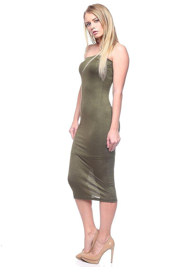 Speak-Chic Solid Tube Dress Long