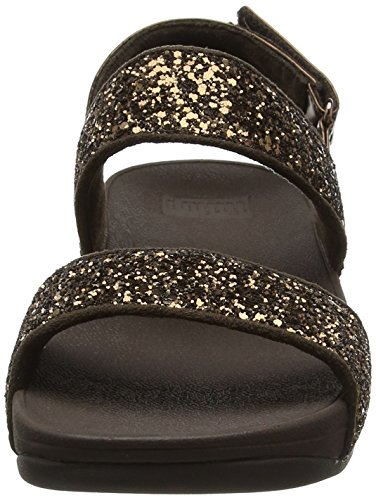 Glitterball Tacón Mujer bronze Con Sandal Negro Fitflop Sandalias pxd4wgAqPP