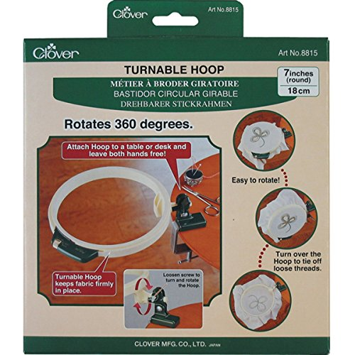 Hoop Embroidery Clover (Clover Turnable Hoop-7-Inches)
