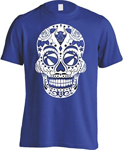 (America's Finest Apparel Blue Devil Basketball Sugar Skull - Men's)