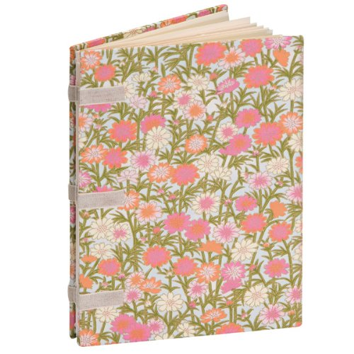 Books By Hand Linen Tape Journal, (Pink Bone Folder)