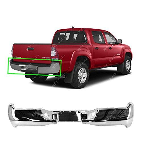 MBI AUTO - Chrome, Steel Rear Bumper Face Bar Shell for 2005-2015 Toyota Tacoma 05-15, TO1102240 (2005 Tacoma Rear Bumper)