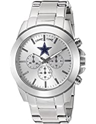 Game Time Womens Knock-Out Quartz Stainless Steel Quartz Analog Watch, Color:Silver-Toned (Model: NFL-TBY-DAL)