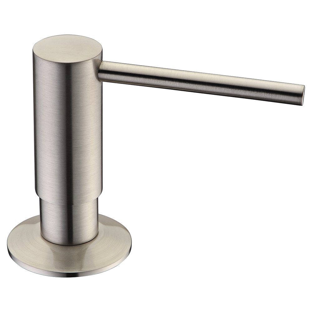 Avola Solid Brass Pump Head Kitchen Sink Soap Dispenser,Brushed Nickel