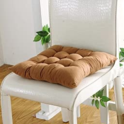 Set of 4 Soft Brush Microfiber Fully Quilted Dining Chair Cushion Pads 17x17\