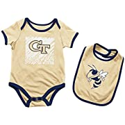 Georgia Tech Yellowjackets NCAA Infant  Look at the Baby  Onesie w/Bib Set