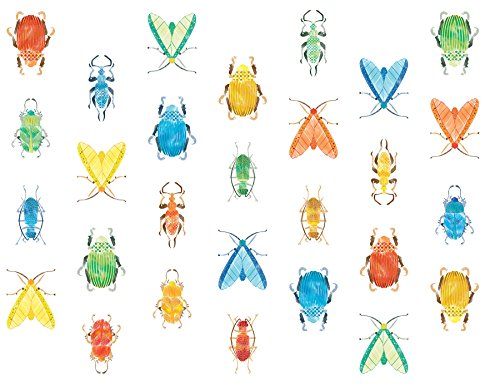 (WallPops WPK2577 Love Bugs Wall Art Kit, Multi-Color)