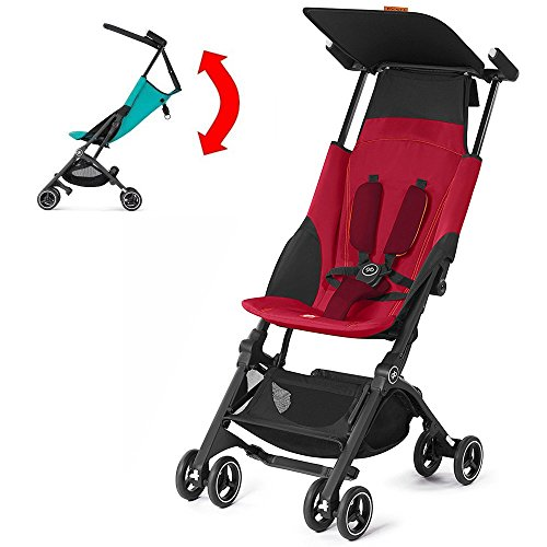 GB Pockit PLUS Stroller 2017 / multi-adjustable backrest / Light Traveler / from 6 Mo.-4Y. Dragonfire Red