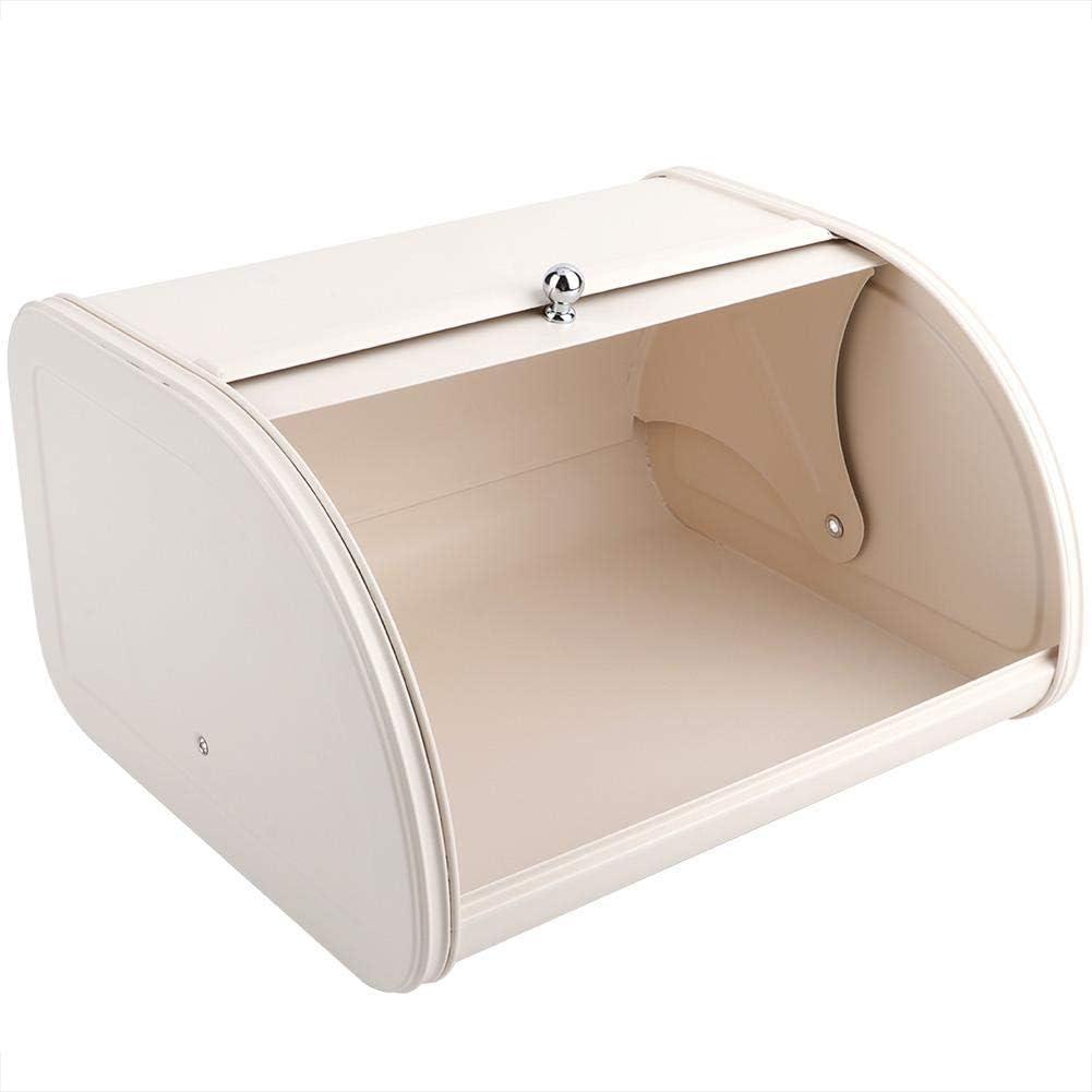 Angoily Caja de Pan de Acero Inoxidable para Cocina Mostrador de Gran Capacidad Contenedor de Almacenamiento de Pan Contenedor de Almacenamiento de Pan Panader/ía Tienda Home S sin Ventana