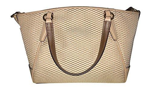 Milk Jacquard Mini Handbag Legacy Beechwood Coach Satchel Crossbody Kelsey HqO6nwC