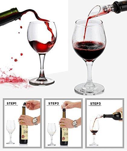 Zinc Alloy Handle Corkscrew Deluxe Wine Accessories Gift with 9 Pieces Renewed Cooko Wine Opener Set Pourer Manual Wine Bottle Opener Kit with Aerator