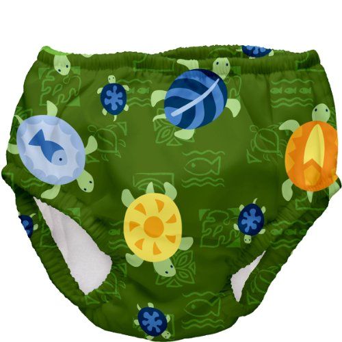 UPC 715418084312, iPlay Swim Diaper for Baby and Toddler Olive Turtles, 6 Months