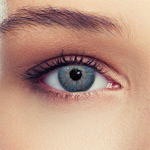Blaue farbige Kontaktlinsen weiche natürlich wirkende Monatslinsen Farblinsen (Sky Blau)
